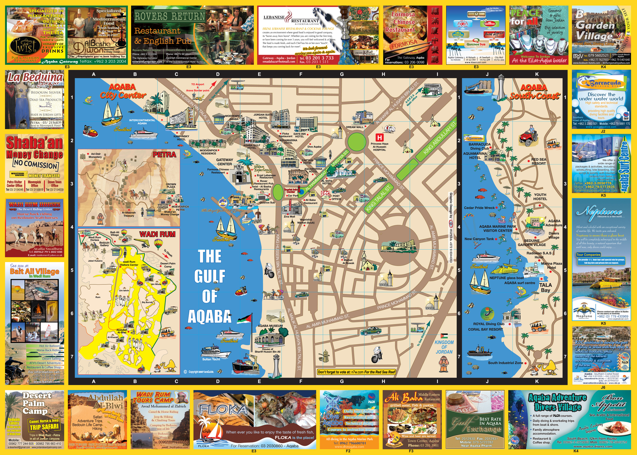 Map of EilatAqaba Map